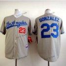 los angeles dodgers #23 adrian gonzalez 2015 Baseball Gray Jerseys Authentic Stitched