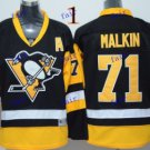 Pittsburgh Penguins #71 Evgeni Malkin Throwback Vintage Jersey ICE Hockey Jerseys Heritage Stitched