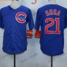 Chicago Cubs #21 sammy sosa  Blue 2015 Baseball  Jerseys Authentic Stitched