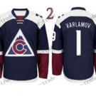 2016 Stadium Series Colorado Avalanche #1 Semyon Varlamov Ice Winter Jersey Authentic Stitched