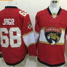 Cord NHL Florida Panthers #68 Jagr Red Hockey Jersey Stitched