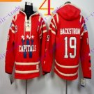 Stitched WCapitals Hoody #19 Backstrom men Red Balc Jerseys Ice Jersey Hoodie