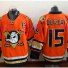 Anaheim Ducks Hockey Jerseys #15 Ryan Getzlaf Jersey Orange Stitched Ice Hockey Jerseys C Patch