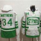 Toronto Maple Leafs hoodie 34 Auston Matthews White 100th 2017 Centennial Classic  hockey Jersey