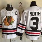 Chicago Blackhawks #3 pierre pilote 2015 Ice Winter Jersey  Authentic Stitched