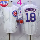 Ben Zobrist Jersey Chicago Cubs 18# Baseball Jersey, Stitched White