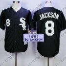 Bo Jackson Sox Jersey Chicago White Sox Uniforms Black 100% Stitched