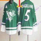 Stitched Pittsburgh Penguins #5 Deryk Engelland Green Hockey Jerseys Ice Winter Jersey
