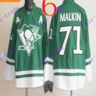Stitched Pittsburgh Penguins #71 Evgeni Malkin Green Hockey Jerseys Ice Winter Jersey