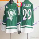 Stitched Pittsburgh Penguins Andre Fleury #29 Green Hockey Jerseys Ice Winter Jersey