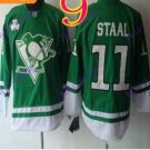 Stitched Pittsburgh Penguins #11 Jordan Staal Green Hockey Jerseys Ice Winter Jersey