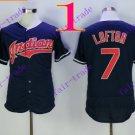 cleveland indians #7 Kenny Lofton Black 2016 Baseball Jersey  Authentic Stitched