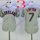 cleveland indians #7 Kenny Lofton Grey 2016 Baseball Jersey  Authentic Stitched