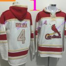 st. louis cardinals #4 yadier molina pullover hoodie #2016 Baseball Hooded Sweatshirt Jerseys