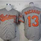 baltimore orioles #13 manny machado Grey 2015 Baseball Jersey Authentic Stitched