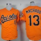 baltimore orioles #13 manny machado Orange 2015 Baseball Jersey Authentic Stitched