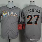 miami marlins #27 giancarlo stanton Grey 2015 Baseball Jersey Authentic Stitched