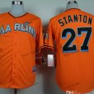 miami marlins #27 giancarlo stanton Orange 2015 Baseball Jersey Authentic Stitched