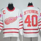 2017 Centennial Classic Detroit Red Wings Hockey 40 Henrik Zetterberg Jersey Home White Stitched