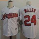 Cleveland Indians #24 Manny Ramirez White Throwback Stitched Jersey Style 2