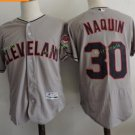 Cleveland Indians #30 Tyler Naquin Grey Throwback Stitched Jersey
