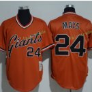 San Francisco Giants #24 Willie Mays Orage Throwback