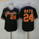 San Francisco Giants #24 Willie Mays Black Throwback