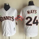 San Francisco Giants #24 Willie Mays White Throwback Style 1