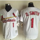 St. Louis Cardinals #1 Ozzie Smith White Flexbase Jerseys