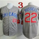 Chicago Cubs #22 Addison Russell Grey 2015 Baseball Jersey Authentic Stitched Style 2