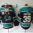 San Jose Sharks #39 Logan Couture Hockey Hooded Stitched Old Time Hoodies Sweatshirt Jerseys