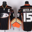Anaheim Ducks Hockey Jerseys #15 Ryan Getzlaf Black Orange Alternate Stitched Ice