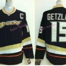 Anaheim Ducks Hockey Jerseys #15 Ryan Getzlaf Black White Alternate Stitched Ice