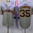 San Francisco 35 Brandon Crawford Grey Jerseys SF Baseball Jersey W/Champion Path