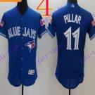 2016 Flexbase Stitched Toronto Blue Jays 11 Pillar Blue Flag Jersey