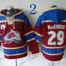 Colorado Avalanche #29 nathan mackinnon Hockey Hooded Stitched Old Time Hoodies Sweatshirt Jerseys