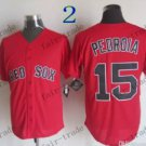 Boston Red White #15 Dustin Pedroia Red 2015 Baseball Jersey Authentic Stitched