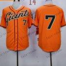 San Francisco Giants #7 Gregor Blanco Orange 2015 Baseball Jersey Authentic Stitched