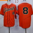 San Francisco Giants  #8 PENCE Orange 2015 Baseball Jersey Authentic Stitched