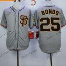 San Francisco Giants #25 Barry Bonds Grey 2015 Baseball Jersey Authentic Stitched
