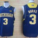 2017 College Michigan Wolverines Jerseys Big 3 Trey Burke Blue Shirt Uniform