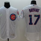 2016 World Series Champions Patch Chicago Cubs 17 Kris Bryant White Baseball Jersey Style 4