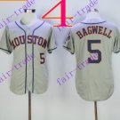 houston astros #5 jeff bagwel 2016 Baseball Jersey Grey Authentic Stitched