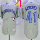 2016 Flexbase Stitched Toronto Blue Jays #41 Aaron Sanchez Grey Jersey