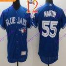 2016 Flexbase Stitched Toronto Blue Jays #55 Martin Blue Jersey