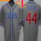 2016 Majestic Official  Stitched Chicago Cubs #44 Anthony Rizzo  Grey Baseball Jerseys