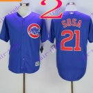 2016 Majestic Official Cool Base Stitched Chicago Cubs #21 sammy sosa Blue Baseball Jerseys