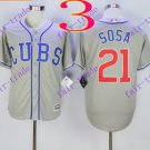 2016 Majestic Official Cool Base Stitched Chicago Cubs #21 sammy sosa Grey Baseball Jerseys