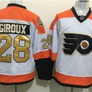 50th Anniversary Flyers 28 Claude Giroux White Winter Classic Gold Throwback Hockey Jerseys