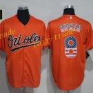8 Cal Ripken Jersey 1989 Cooperstown Baltimore Orioles Baseball Jerseys Throwback Orange Style 1